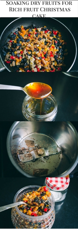 Soaking Dry Fruits for Rich Christmas Fruit Cake (1)