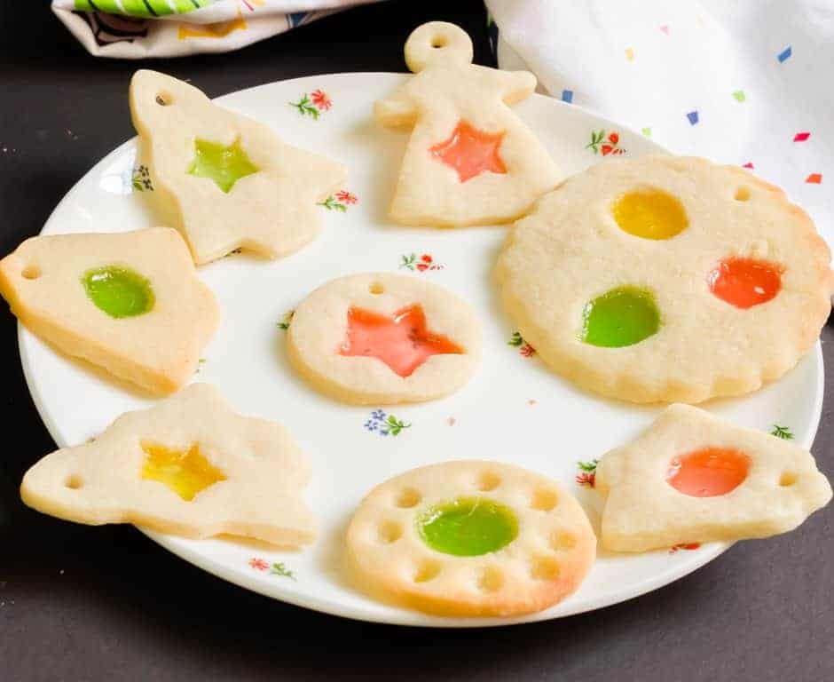 eggless stained glass cookies