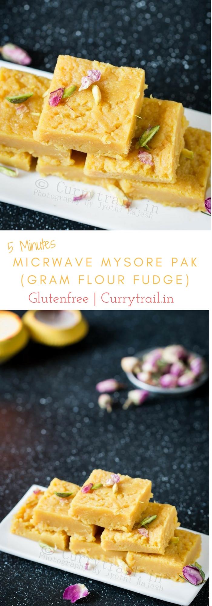 Microwave Mysore Pak