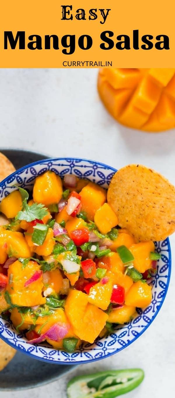Fresh mango salsa recipe - perfect summer dip and spread
