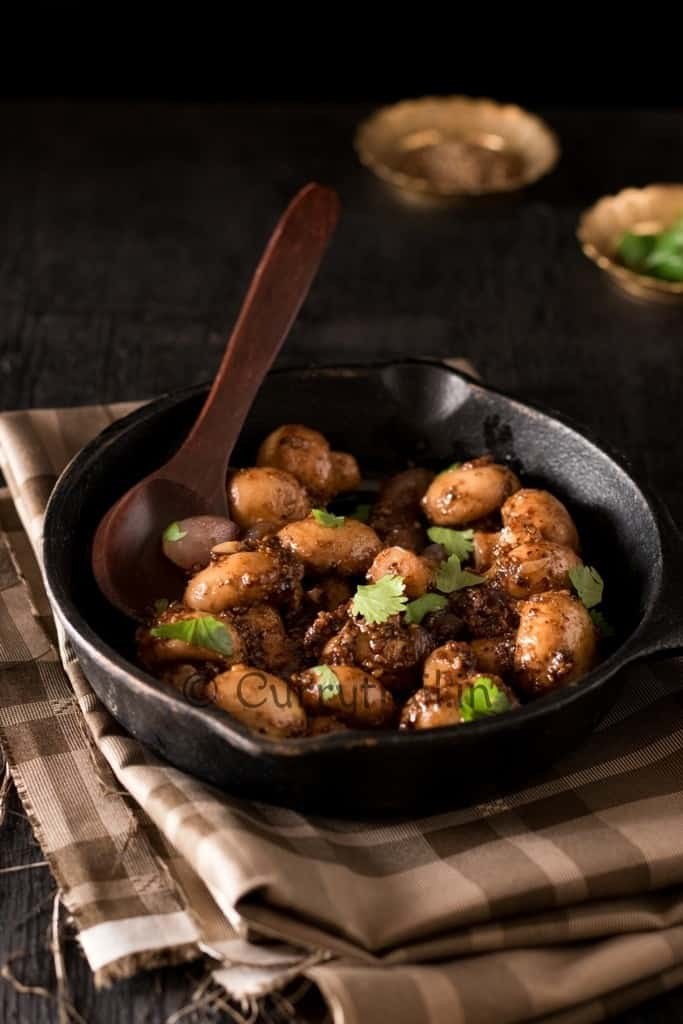 Garlicky Pepper Mushroom Stir Fry Photo