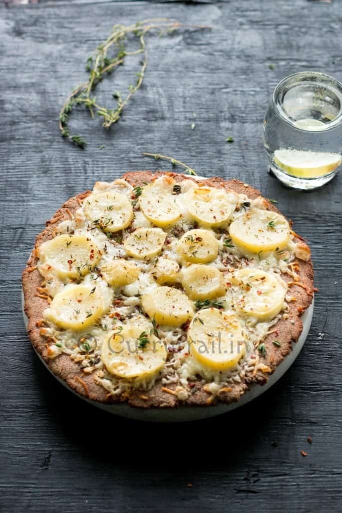 Potato pizza on gluten free crust