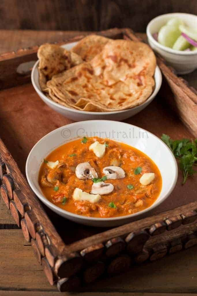 Mushroom Butter Masala Featured Photo