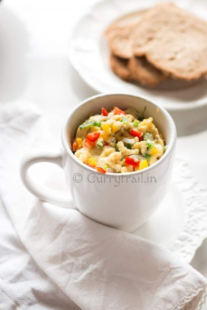 Egg omelette in a mug