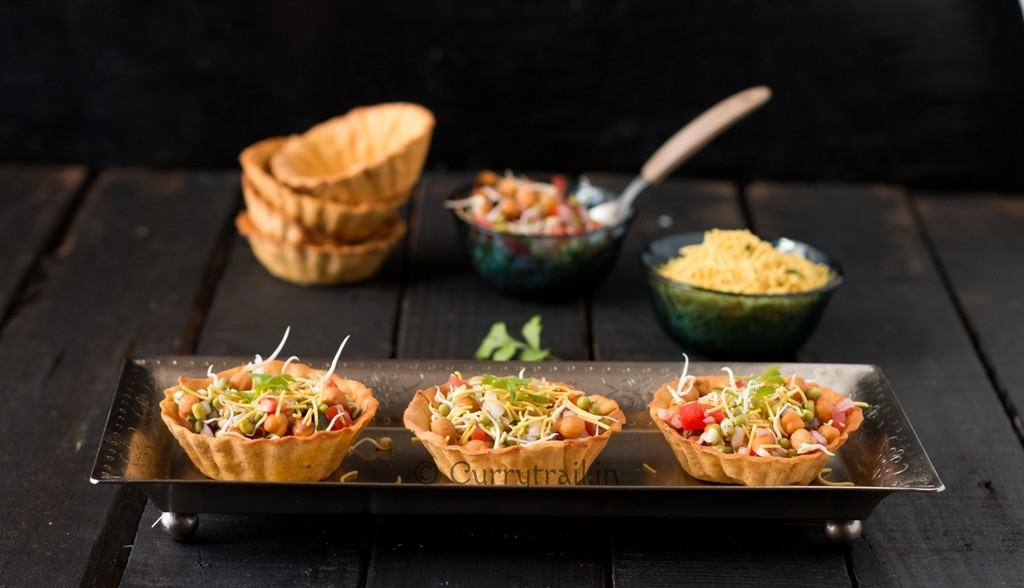 Homemade Canape Papdi Chaat