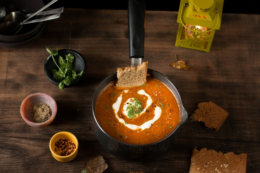 Roasted sweet potato and cumin soup