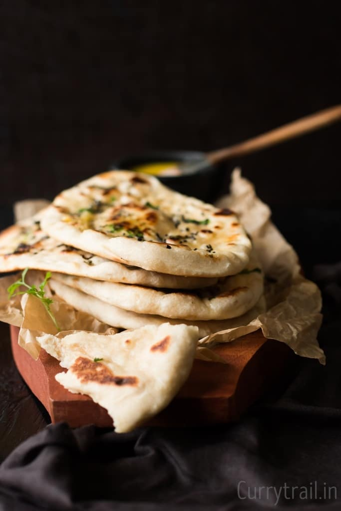 No yeast Instant Naan bread recipe stacked