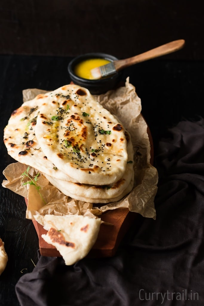 Soft, pillow-y, homemade naan recipe made without yeast