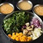 Vegetable Dhansak Prep