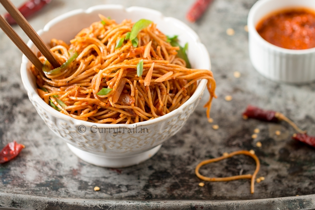 Spicy Schezwan Noodles