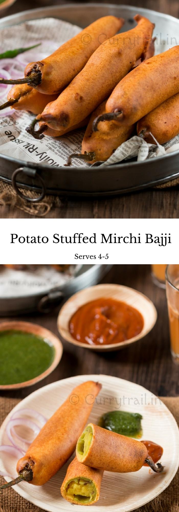 Potato Stuffed Mirchi Bajji