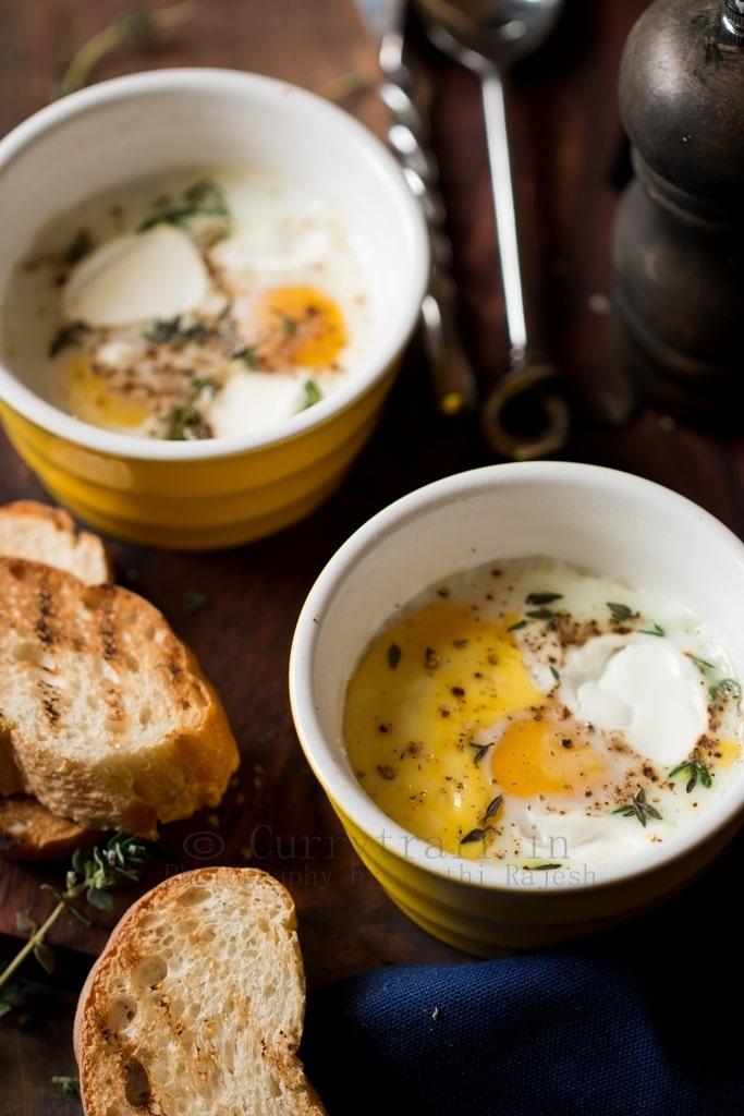 Super Easy Baked Eggs For Breakfast Breakfast In Bed