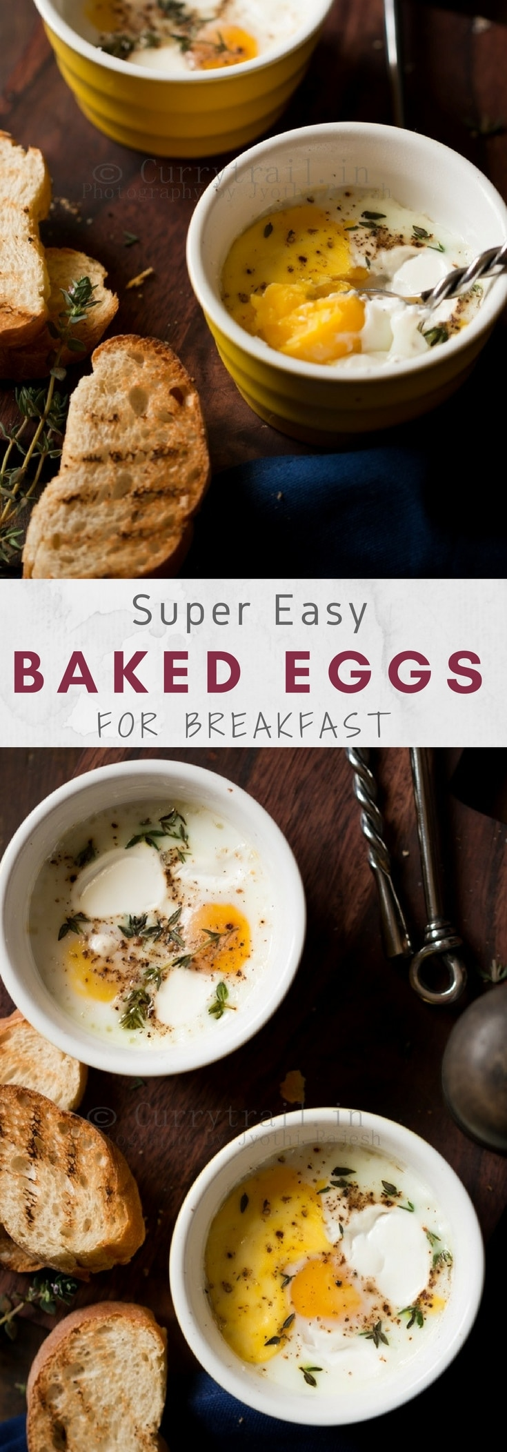 Baked Breakfast Eggs Pinterest Image