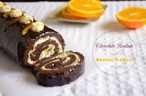 Chocolate Roulade with Orange-Vanilla Filling