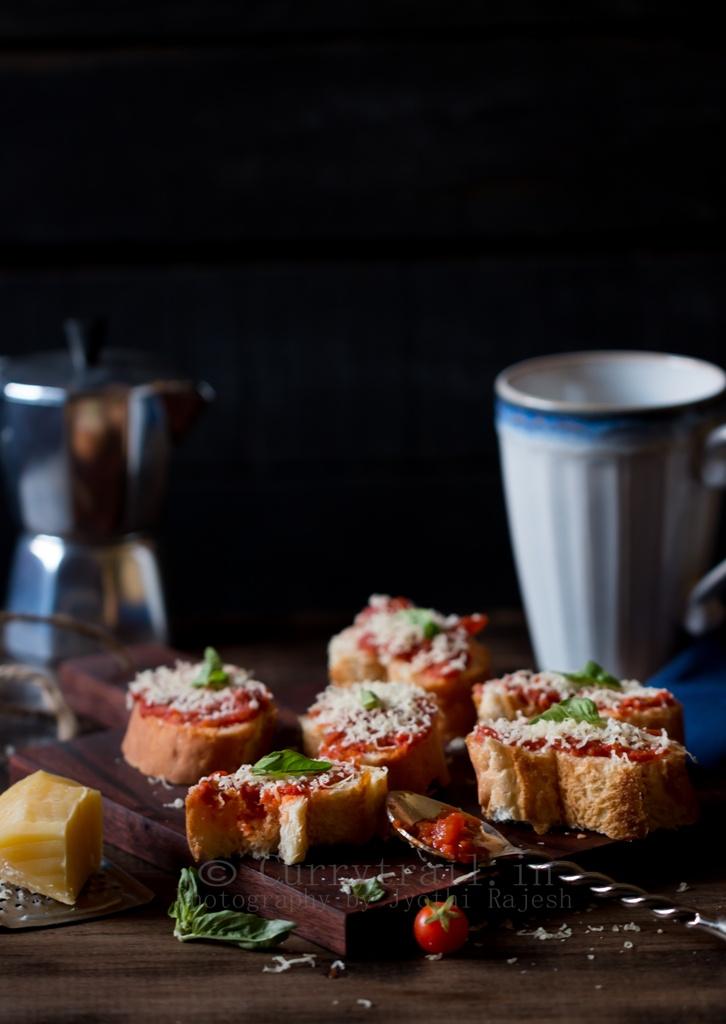 Mozzarella Tomato Bruschetta