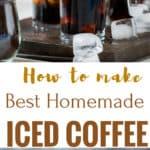 Getting your caffeine fix got so much more better with this guide to how to make the best iced coffee at home. With just 4 ingredients and under 5 minutes(with coffee concentrate ready), this refreshing iced coffee is ready to beat the heat. If you are a coffee lover, then this one is a must try! Forget the gourmet, high on pocket take out coffee, make great tasting iced coffee at home everyday.