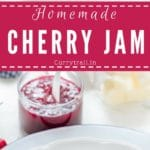 Gorgeous red, delicious homemade cherry jam made of fresh cherries needs just 3 ingredients and your jam will be ready in about 30 minutes. No pectin used