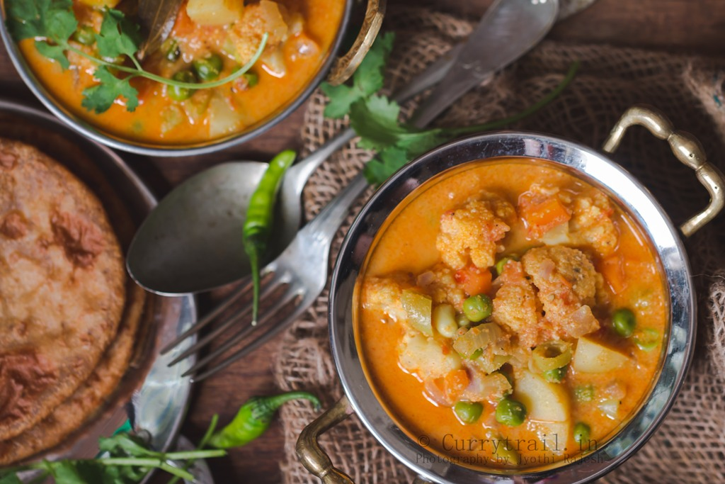South Indian Style Vegetable Kurma