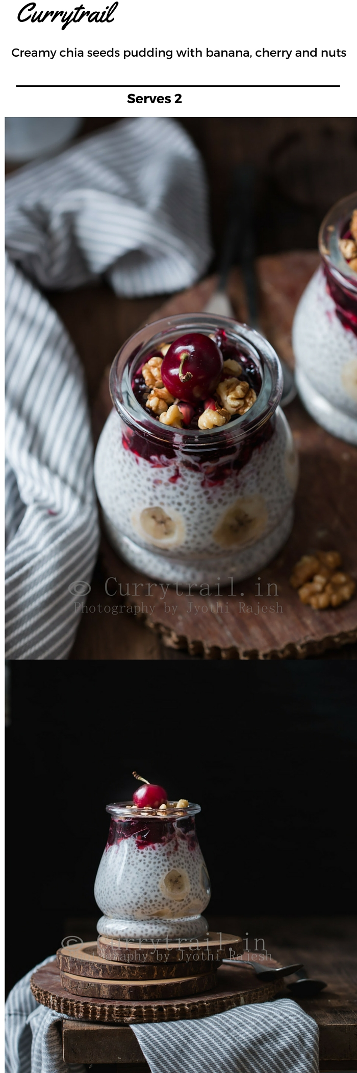 chia breakfast pudding with text over lay