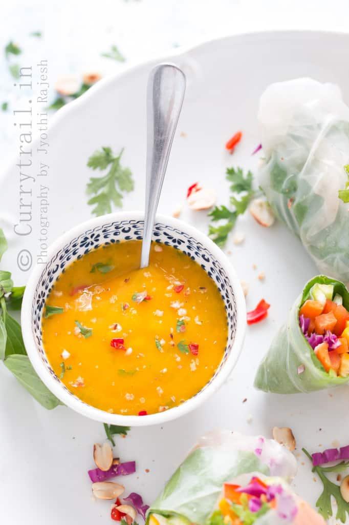 Thai Spring Roll with Thai Mango Dipping Sauce