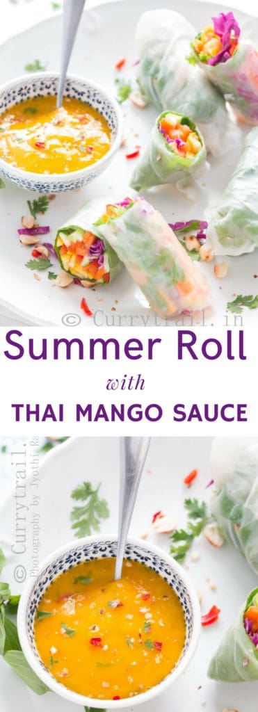 Amazing Mango Dipping Sauce with Thai Spring Roll Simple, refreshing no cook meal that is perfect for summer days. It's all healthy and nutrients loaded that you don't want to pass on.