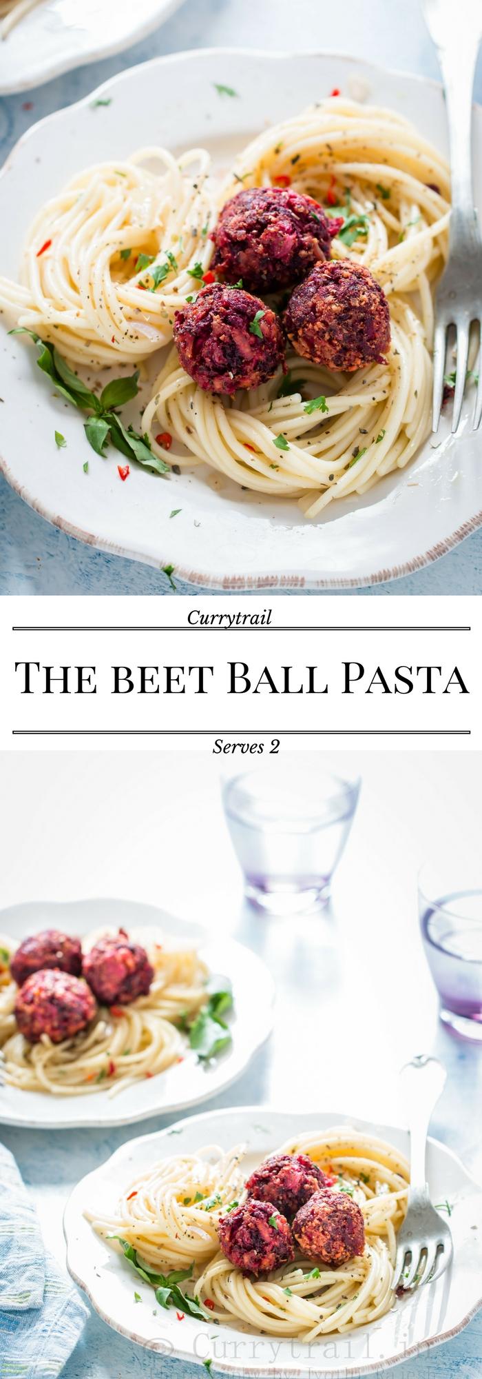 Beetball pasta