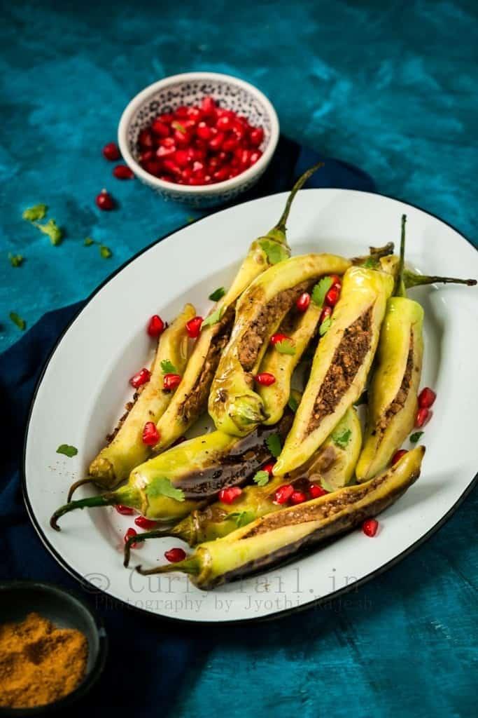 Barith Marchavangun/Kashmiri Stuffed Chilies