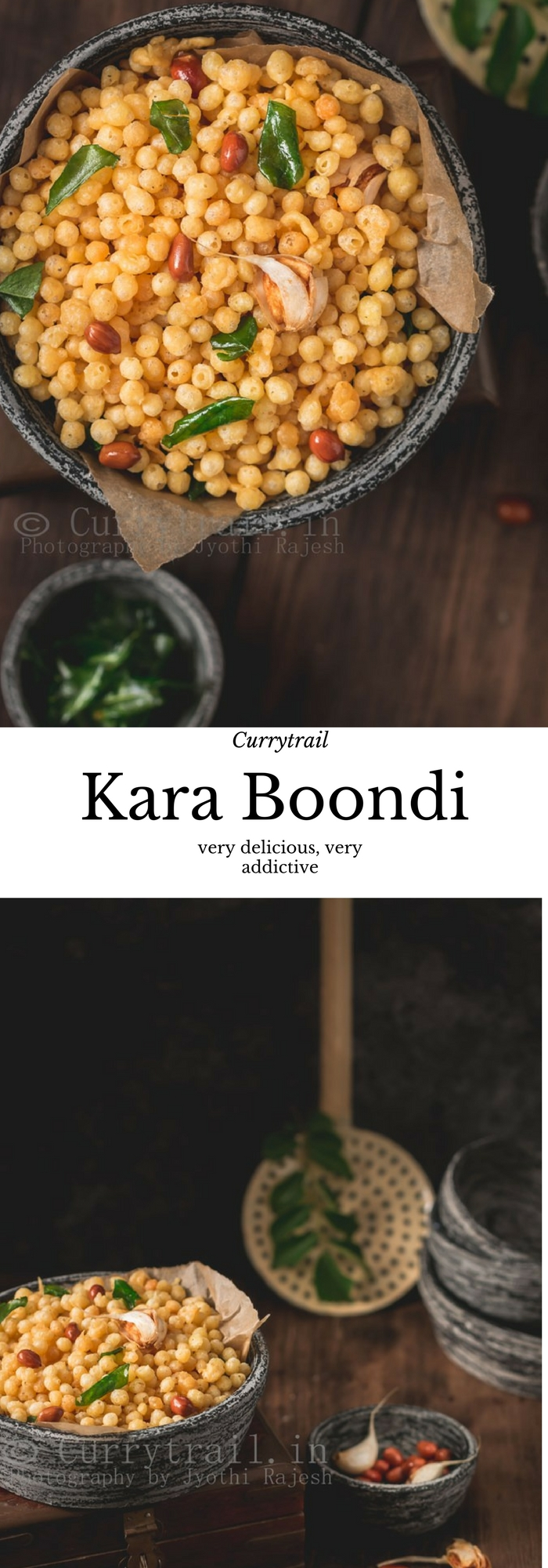 kara boondi recipe with text overlay