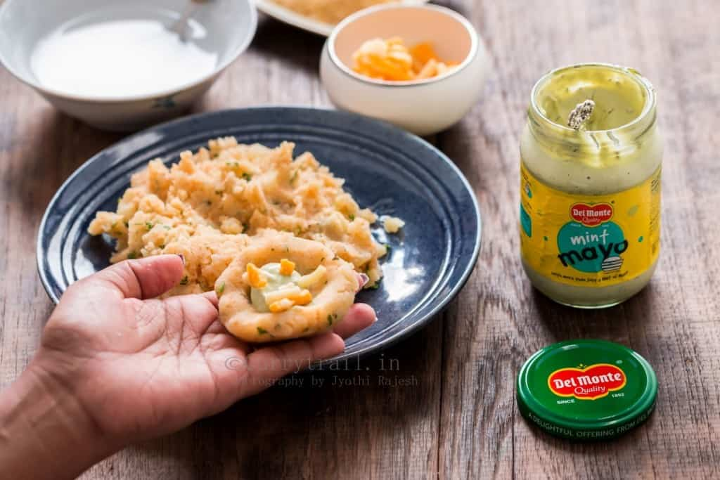 Mint Mayonnaise Stuffed Potato Cutlets Step 1
