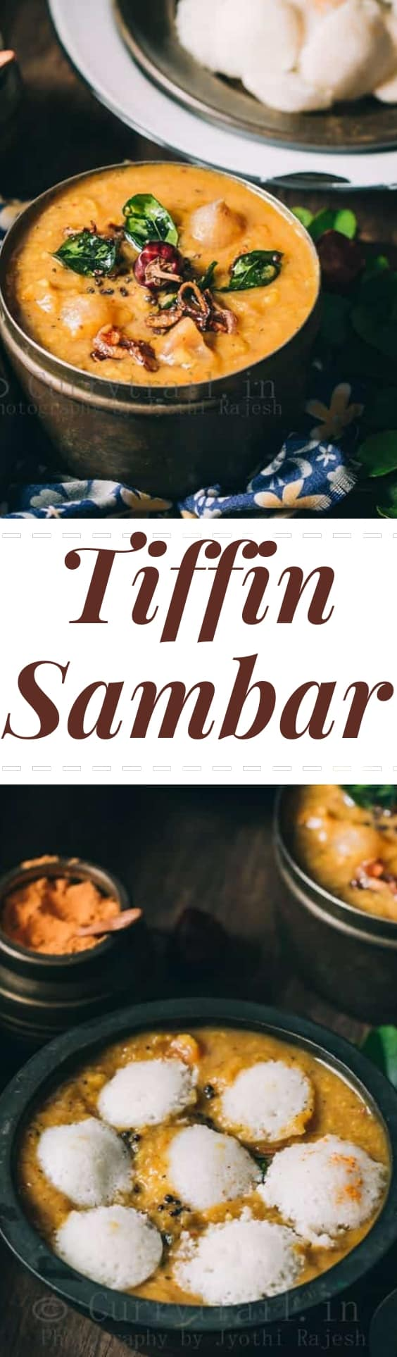 tiffin sambar with button idli with text overlay