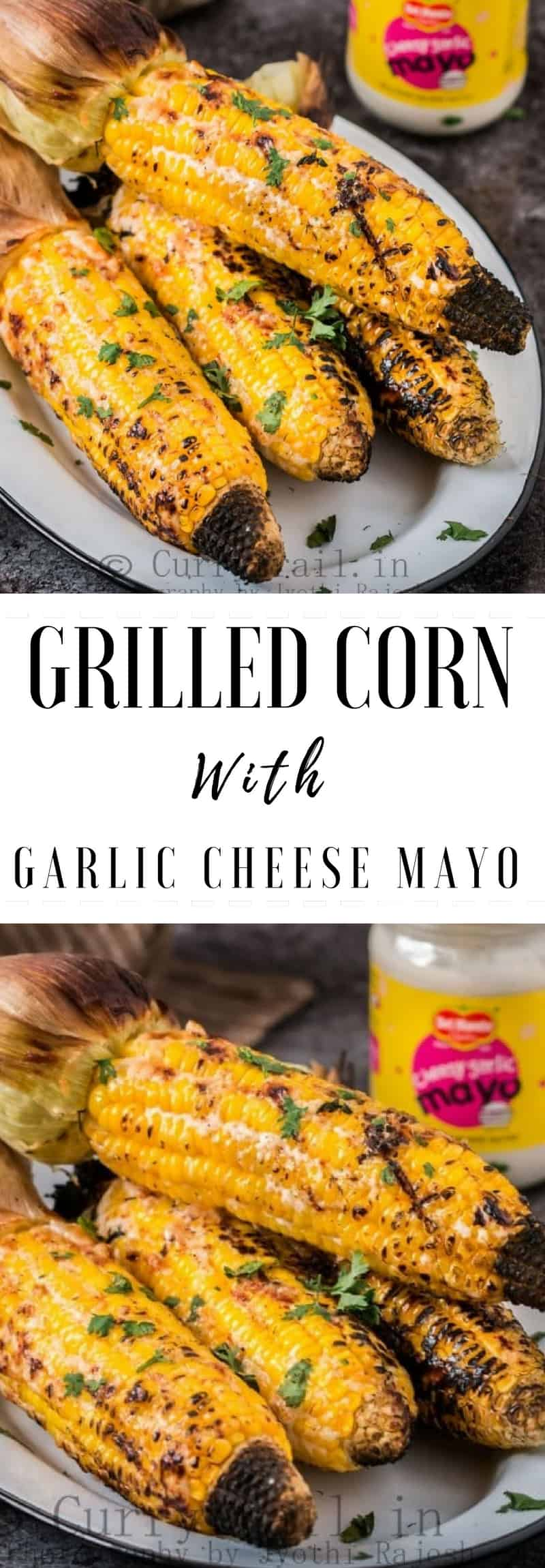 The best way to eat corn is corn on cob and what's better than a grilled corn!  The perfect grilled corn on cob would need just a handful of ingredients, those which are the most important ones to make the perfect grilled corn on cob.