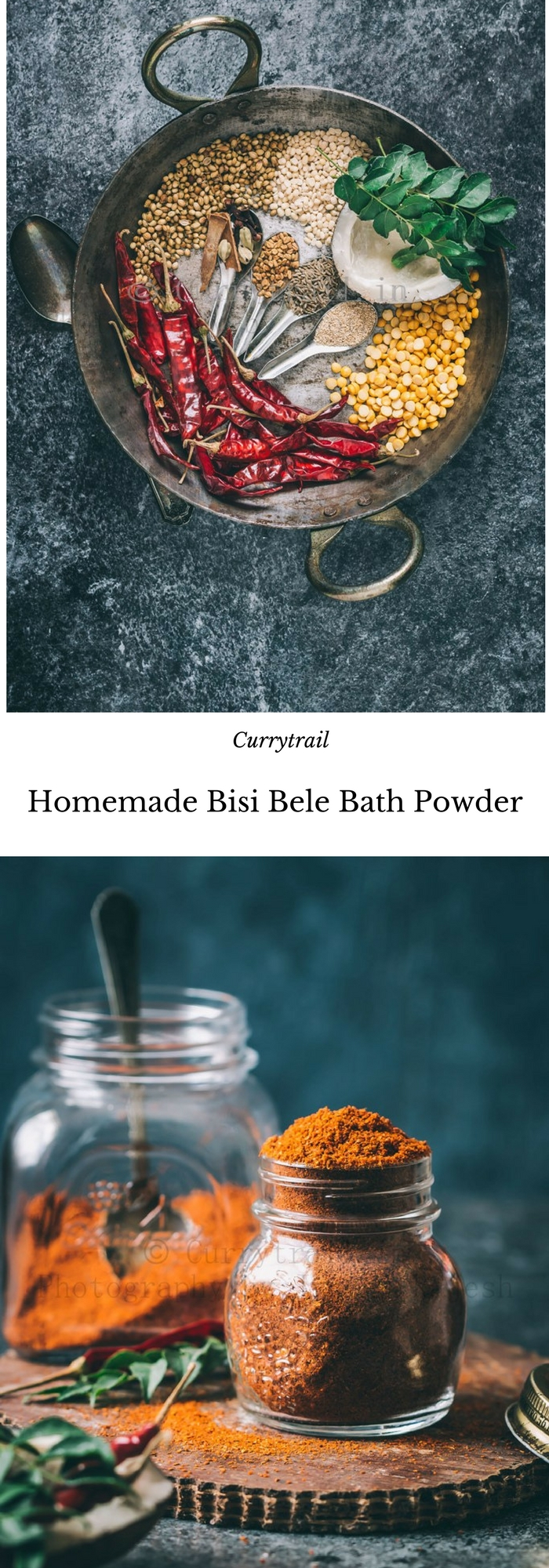 Homemade Bisi Bele Bath Powder