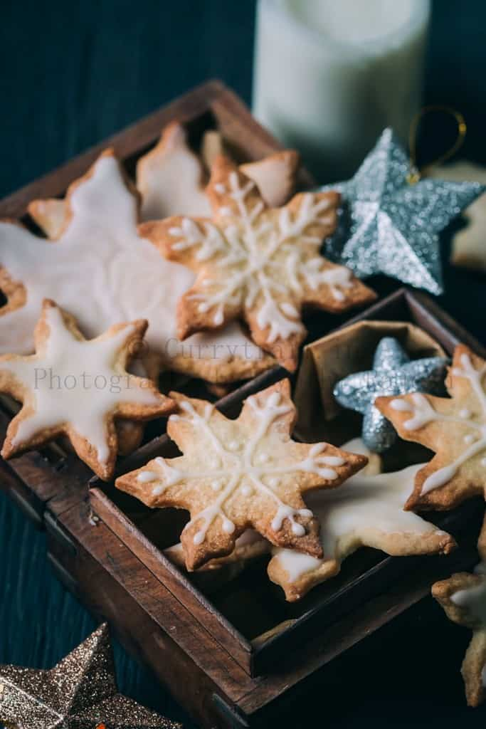Snow Flakes Shortbread Cookies