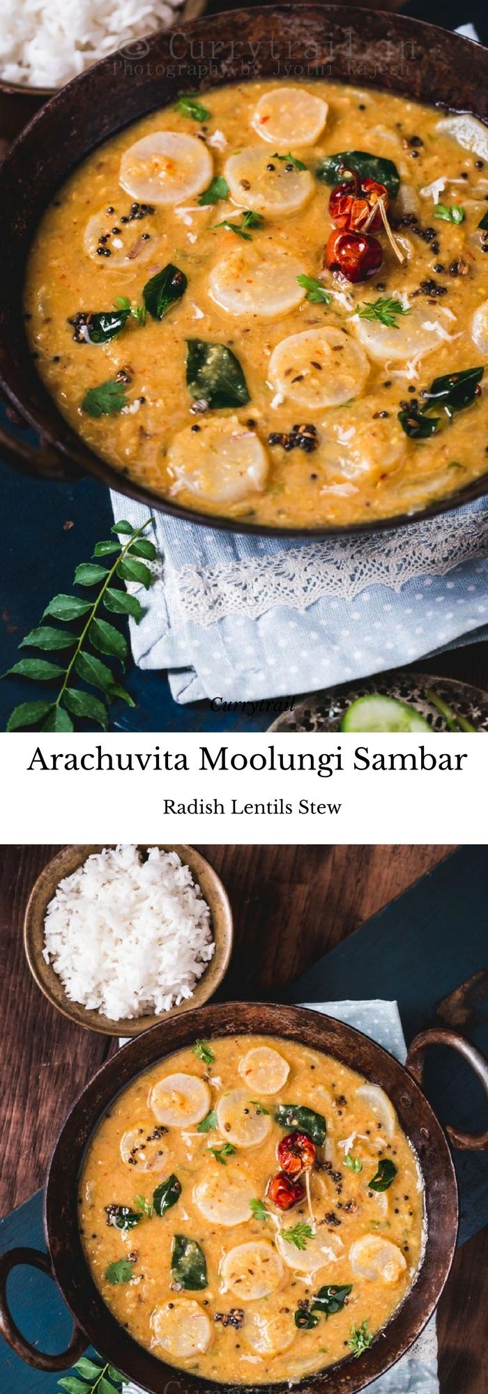 Arachuvita Moolungi Sambar