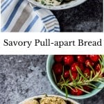 savory pull apart monkey bread with text