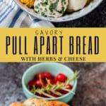Cheesy Garlic and Herb savory monkey bread pin