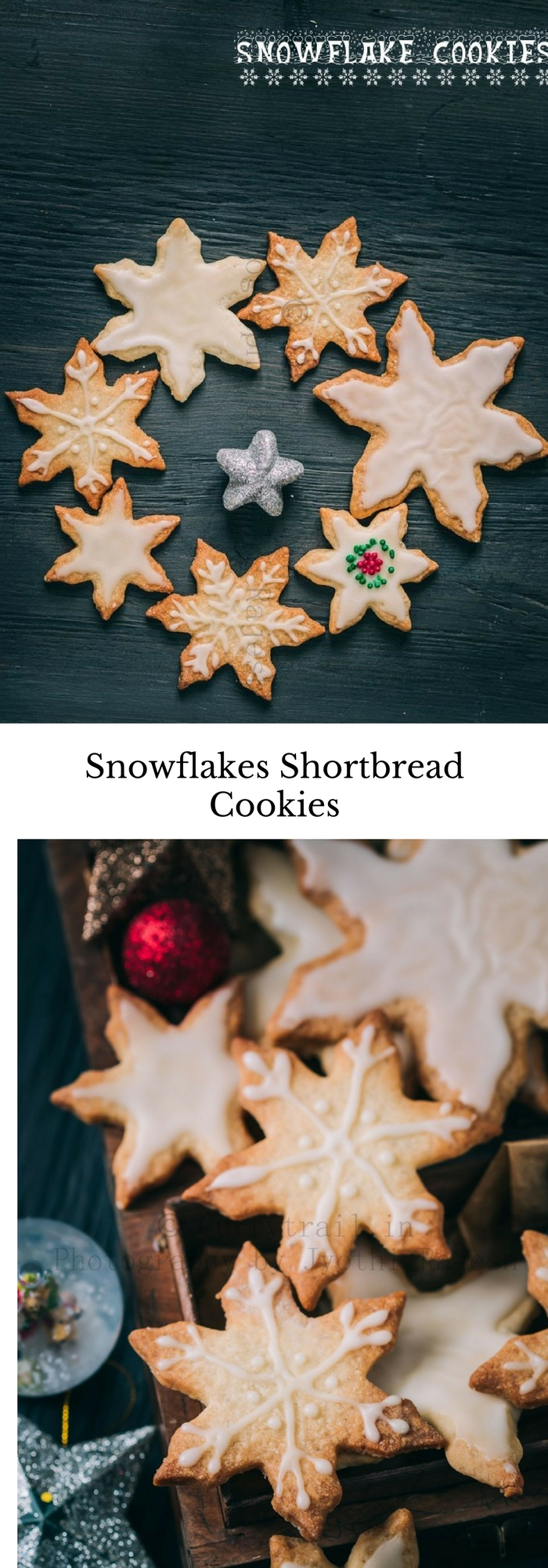 Snowflakes Shortbread Cookie