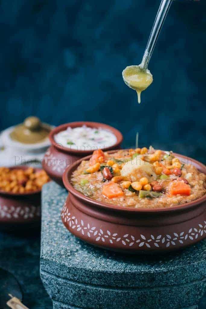 Karnataka special bisi bele bath recipe with ghee