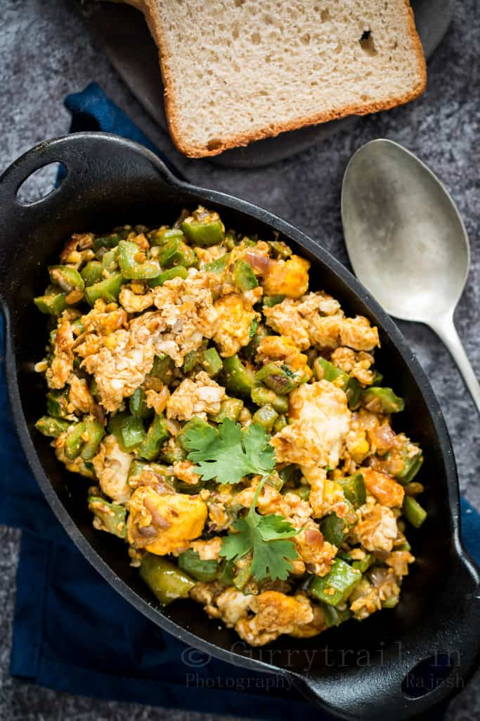 Ridge Gourd With Fried Eggs_4