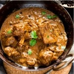 peppery hot mutton curry with text