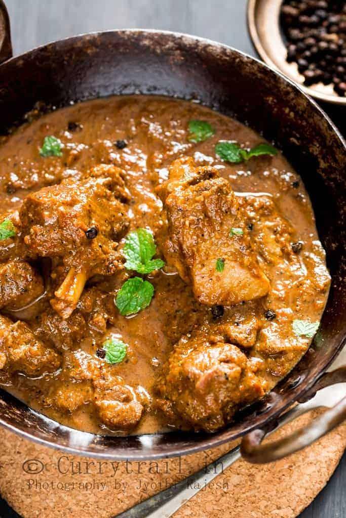 Black pepper mutton curry_2