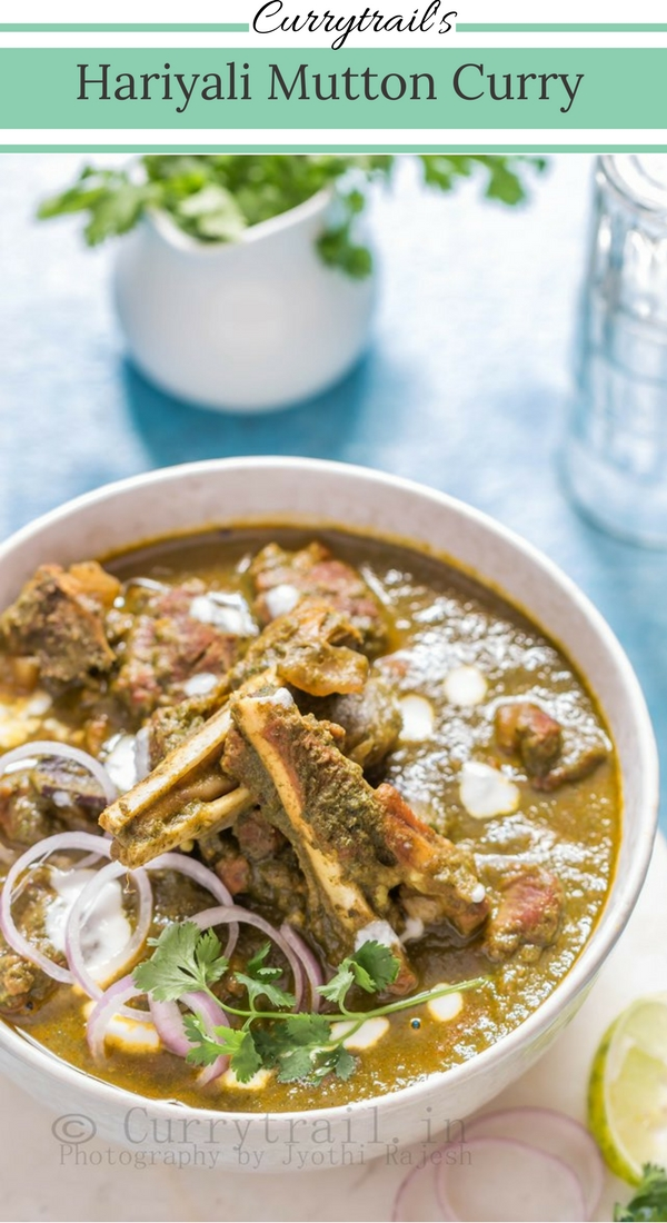 Hariyali Mutton Curry