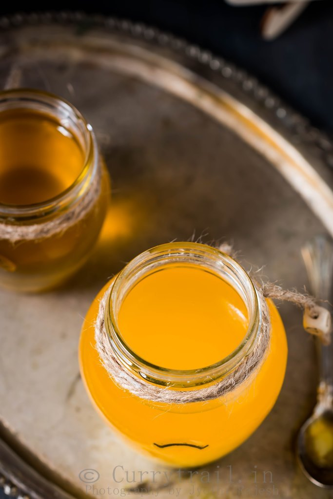 golden liquid homemade ghee recipe