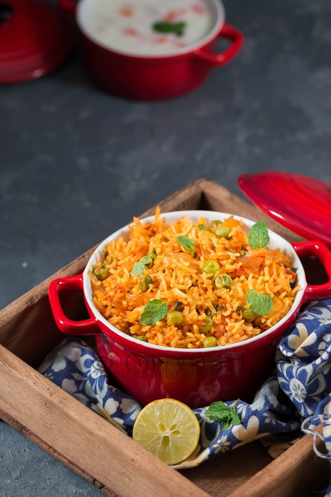 Tomato Rice served in casserole