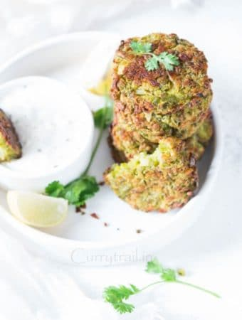 Baked Green Peas Fritters