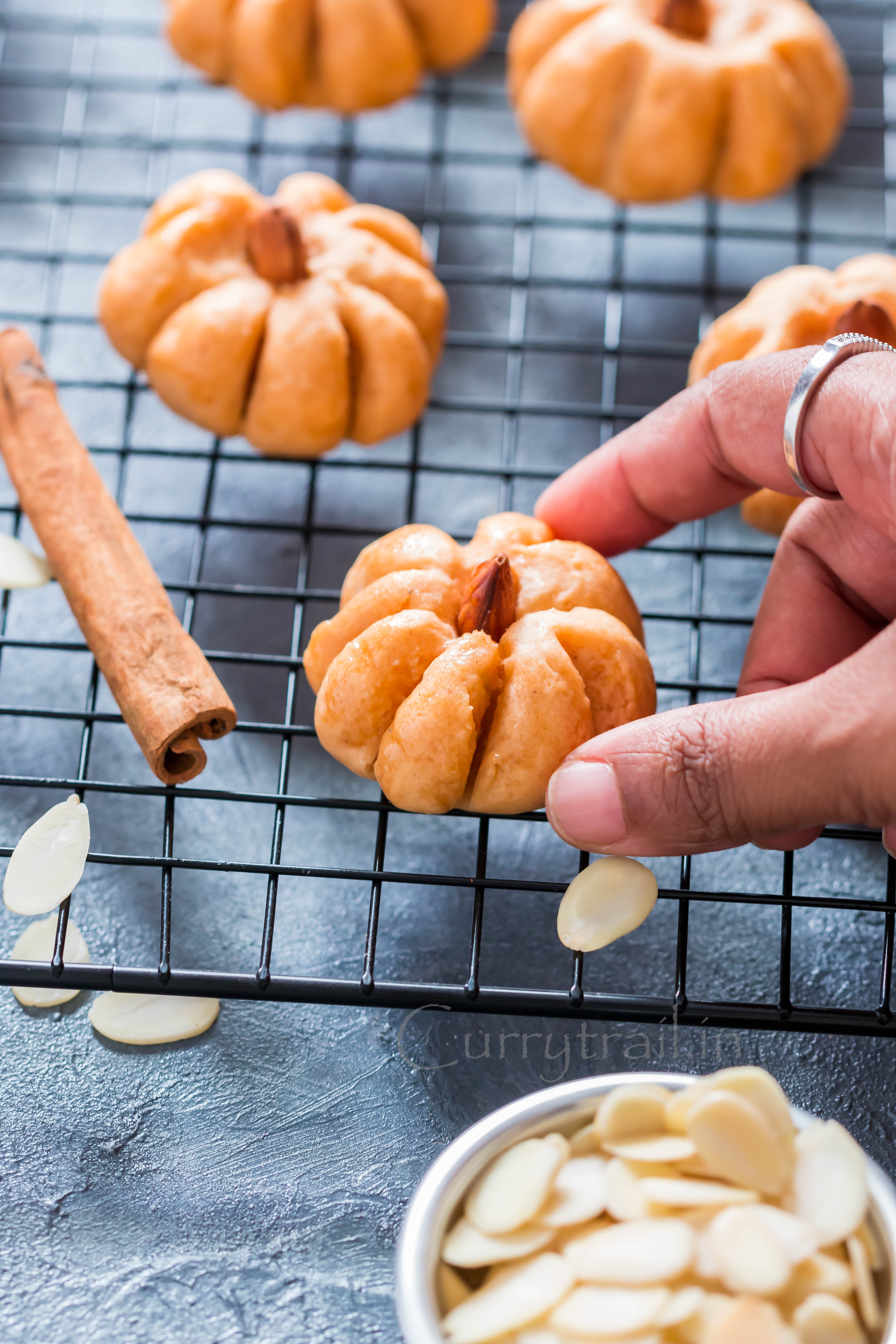 shaped like pumpkin - pumpkin cookies with text overlay