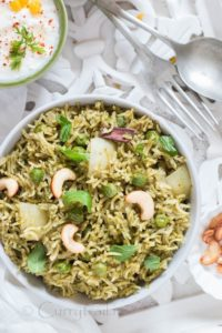 Homemade Mint Pulao