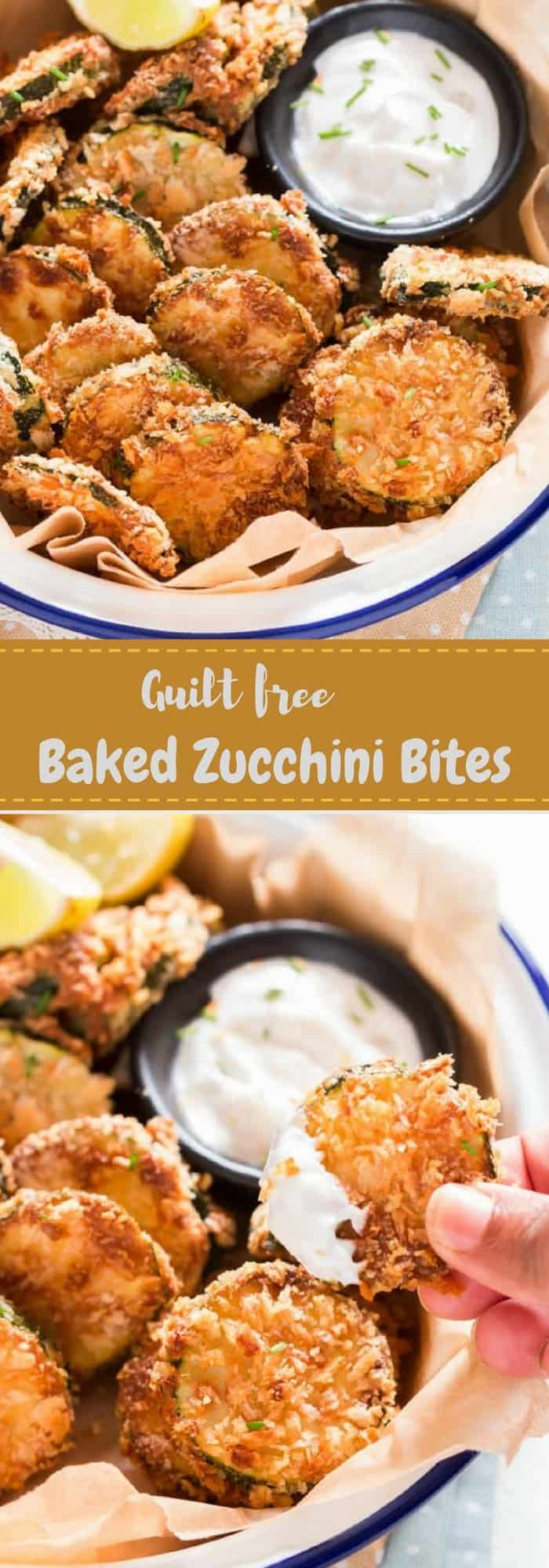 Baked Zucchini Chips with Text Overlay