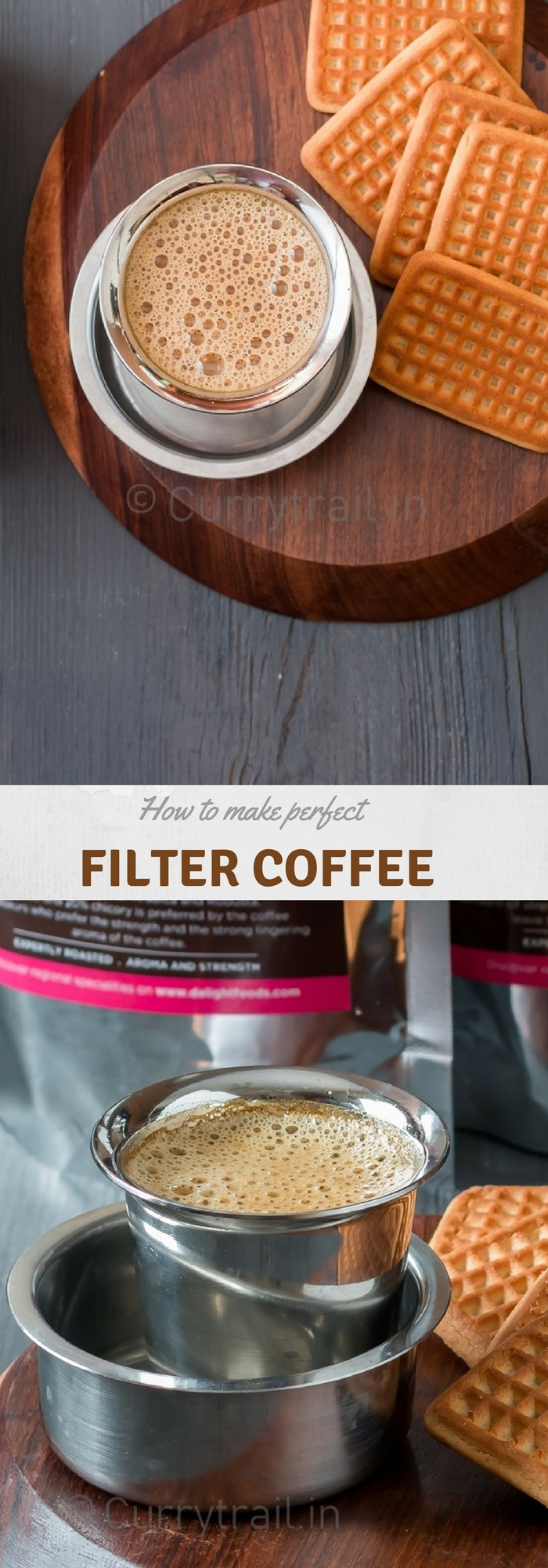how to make the best filter coffee at home with text overlay