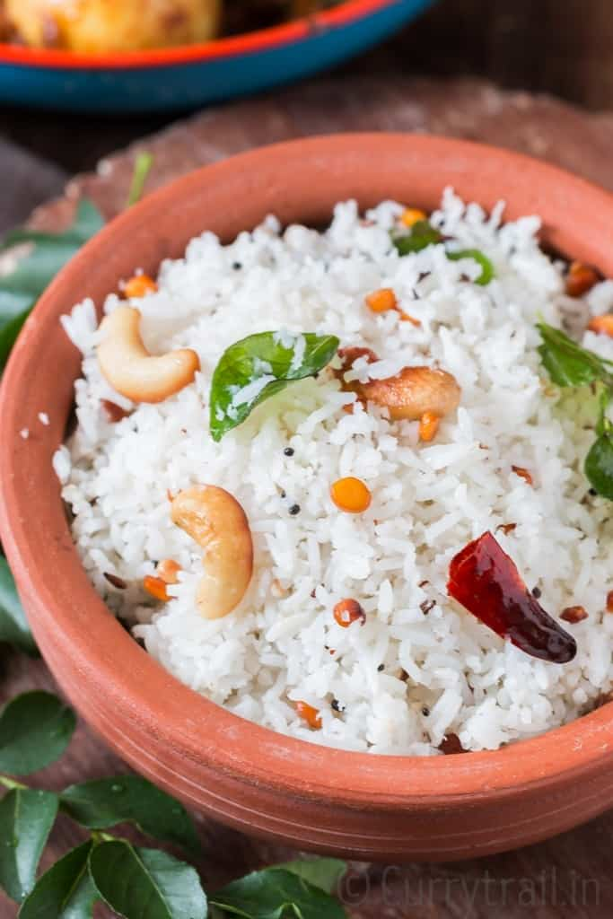 Easy South Indian Coconut Rice Recipe Currytrail